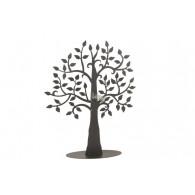 levensboom op plaat zwart hoog 60 cm