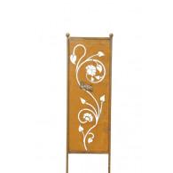 tuin verdeel/decoratie scherm metaal roest bloemenrank