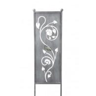 tuin verdeel/decoratie scherm metaal grijs bloemenrank