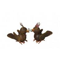vogel metaal roest 2 assortiment design hoog 11 cm