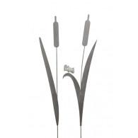(week 1) steker lisdodde grijs 2 assortiment design hoog 116 cm