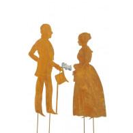 steker man vrouw roest hoog 94/87 cm 2 assortiment design