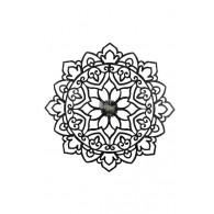 muurdecoratie ornament 76x2,5xH76cm zwart op=op