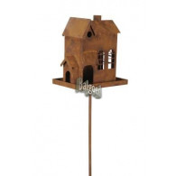 """vogel voederhuis steker """"luxe huis"""" hoog 143 cm roest (vanaf week 26 leverbaar)"""