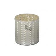 windlicht glas diameter 14.5 cm mat zilver (vanaf week 29 leverbaar)