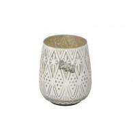windlicht glas diameter 15 cm wit (vanaf week 29 leverbaar)