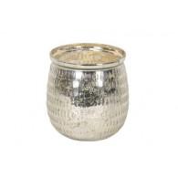 windlicht glas diameter 18 cm zilver (vanaf week 38 leverbaar)