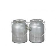 windlicht glas diameter 11 cm met beugel zilver (vanaf week 32 leverbaar)