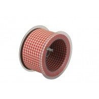 lint schotland 60 mm breed 15 meter lang rood wit