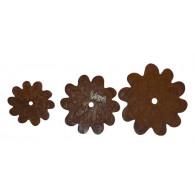 hanger bloemblad metaal roest rond 23/18/13/ cm set van 3 stuks (uitbuigbaar)
