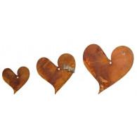 hanger hart metaal roest rond 15/11/9 cm set van 3 stuks