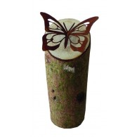boomsteker vlinder metaal hoog 12 cm (zonder boomstam)