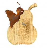 peer met slak hout en metaal hoog 25 cm