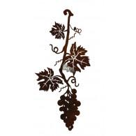 hanger wijnrank met druiven metaal hoog 20 cm