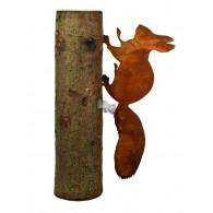 boomsteker eekhoorn metaal hoog 36 cm (zonder boomstam)