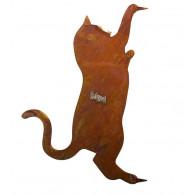boomsteker kat metaal hoog 30 cm
