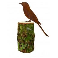 boomsteker vogel metaal hoog 24 cm (zonder boomstam)
