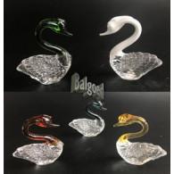glasfiguur zwaan 6 cm 6 assortiment design/kleur