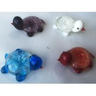 glasfiguur schildpad 4 assortiment kleur 4.5 cm