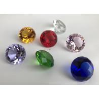 glasfiguur diamant 4 cm 6 assortiment kleur