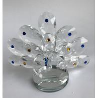 glasfiguur pauw 11 cm sp