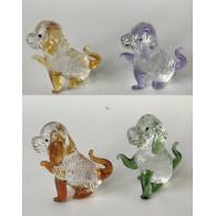 glasfiguur hond 6.5 cm assortiment kleur
