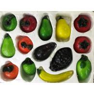 glasfiguur vruchten 9-19 cm 14 assortiment design