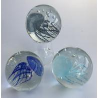 glasfiguur kwal 9 cm 3 assortiment kleur