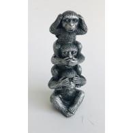 aap horen zien en zwijgen hoog 10 cm