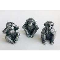 aap horen zien en zwijgen 6 cm set van 3 stuks