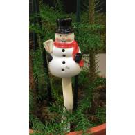sneeuwman los op steker 15 cm