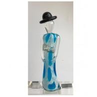 glasfiguur dame 21cm blauw