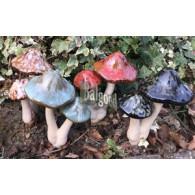 paddenstoelen dubbel 4 assortiment kleur hoog 22 cm (12 stuks = display)