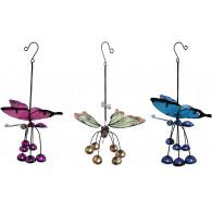 hanger vlinder glas en metaal 3 assortiment glow in the dark