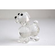 glasfiguur hond 4 cm