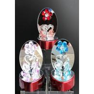 glasfiguur zwaan en bloem op spiegel 3 assortiment design