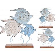 deco figuur 3 vissen 31x22 cm
