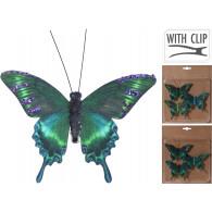 vlinder op clip 10.5 cm set 3 stuks