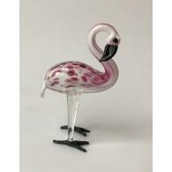 glasfiguur flamingo 9 cm