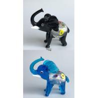glasfiguur olifant 7.5 cm 2 assortiment kleur