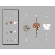 hanger blad vlinder en hart assortiment kleur