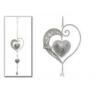 hanger hart in hart antiek grijs lang 73 cm