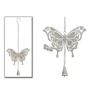 hanger vlinder grijs lang 45 cm