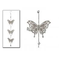 hanger 3x vlinder grijs lang 91 cm