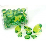 deco diamant mix acryl 110 gram in pvc box groen op=op