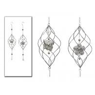 hanger spiraal metaal zilver lang 65 cm 2 assortiment design