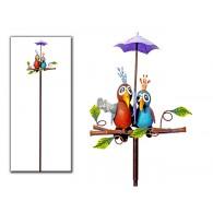 tuinsteker vogelpaar met paraplu