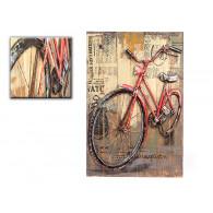 muurdecoratie fiets metaal en hout sp