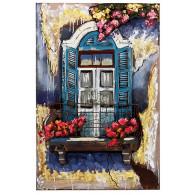 muurdecoratie raam metaal