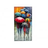 muurdecoratie paraplu metaal